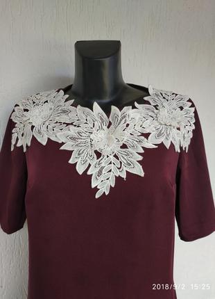 Стильное красивое стрейчевое платье футляр ручной работы.