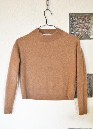 Кашемировый укороченный свитер