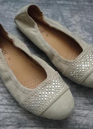 Балетки, туфли замшевые gabor 5