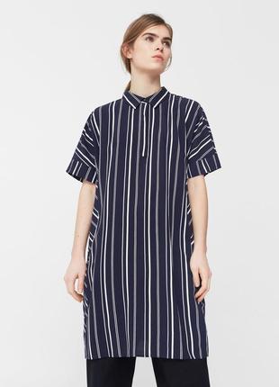 Платье рубашка в полоску от mango размер s