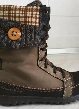 Водонепроницаемые термо ботинки quechua зимние