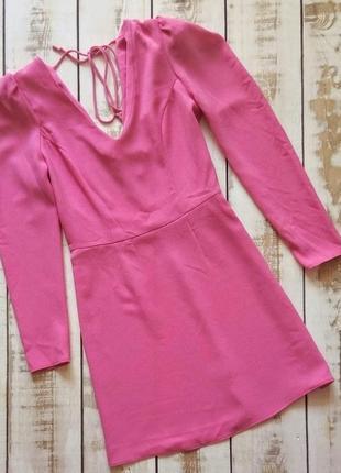 Платье с плечиками фонариками, зефирное розовое, новое!