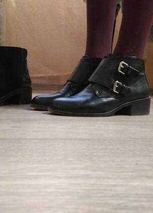 Pull and bear 38 размер черные классического стиля туфли на змейке-застежке)