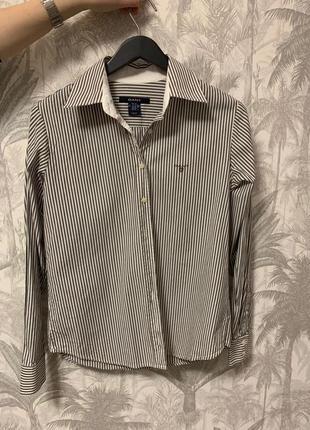 Классическая рубашка в полоску gant