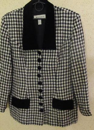 Стильный костюм пиджак и юбка, фирма algo, канада, р. 48-50