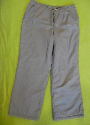 Штаны брюки зимние зима тёплые болоневые м-л на низкий рост