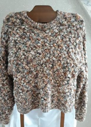 Красивый, теплый и очень эффектный свитер крупной вязки h&m
