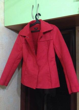 Дубленка тренд zara basic замшевая, куртка красная