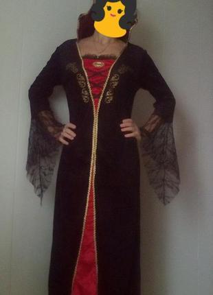 Новогодний наряд, карнавальное платье королевы с-м