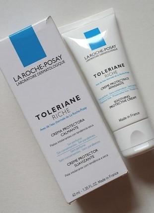 La roche-posay toleriane sensitive riche увлажняющий крем.