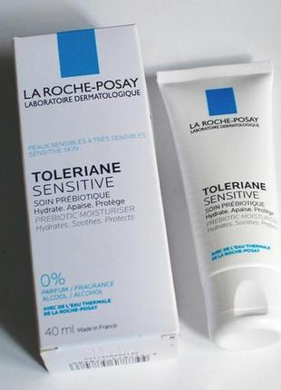 La roche-posay toleriane sensitive prebiotic moisturiser увлажняющий крем.