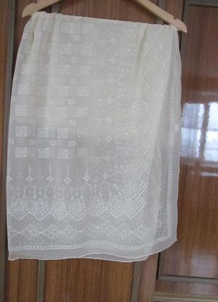 Суперовый платочек из шелка, шов роуль