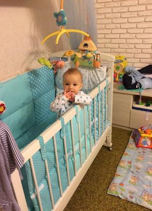 Набор в кроватку с гнездом, постельное
