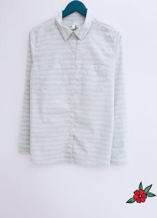 Мятная рубашка от caslon 100% хлопок