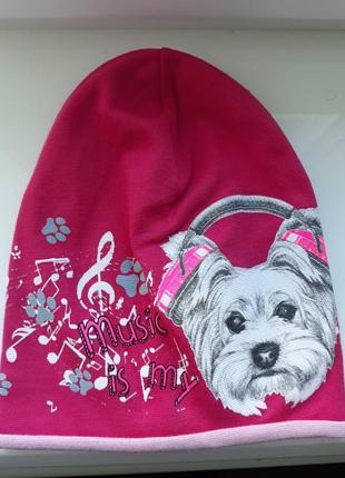 Шапка, шапочка, головной убор для девочки собачка