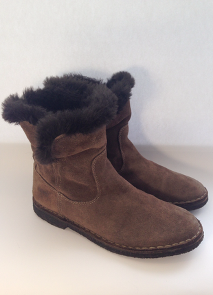 Ботинки vera pelle keys/натуральная замша/италия/деми/размер 37,5-38/24-24,3 см