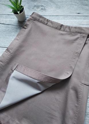 Пудровая юбка трапеция на запах от yessica