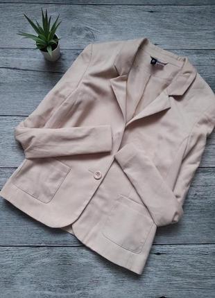 Пудровый пиджак жакет от h&m