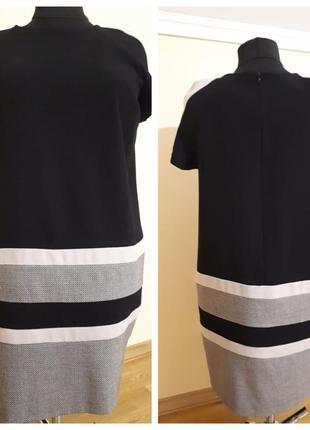 Платье в деловом стиле большого размера marks & spencer из плотной ткани,без подкладки