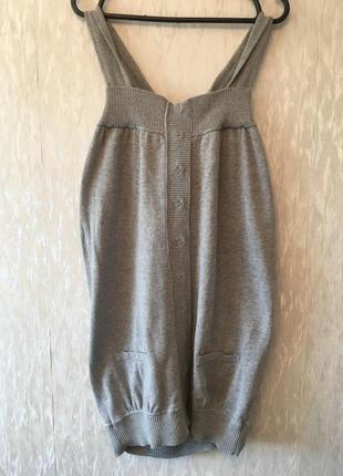 Оригинальное серое хлопковое платье бочонок туника blend she