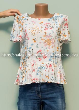 Большой выбор блуз - безумно нежная легкая блуза с рюшей по низу