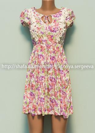 Большой выбор платьев - безумно легкое красивое платье с кружевом вискоза