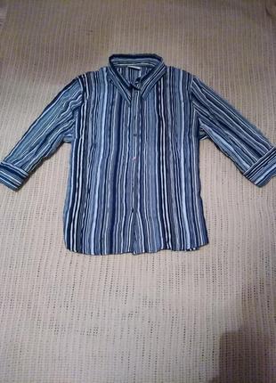 Красивая рубашка/блуза в актуальную полоску