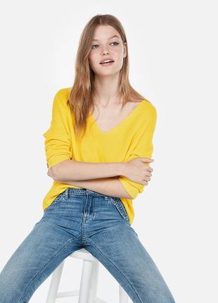 Жeлтый свитер с глубоким свитером esprit, размер л