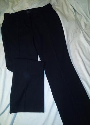 Осенние классические брюки высокая посадка прямые клеш палаццо