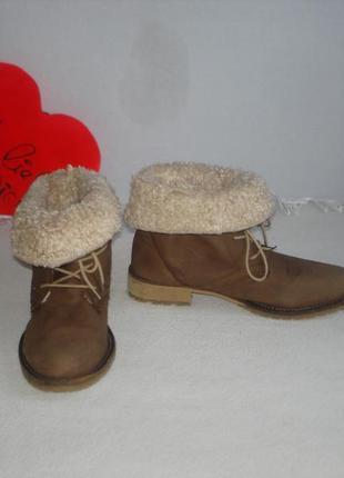 Зимние кожаные полусапожки gore tex бренд ежедневное обновление ... 0edbe80b87f