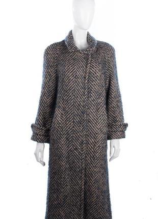 Брендовое вязаное шерстяное зимнее длинное пальто ирландский твид castle island англия