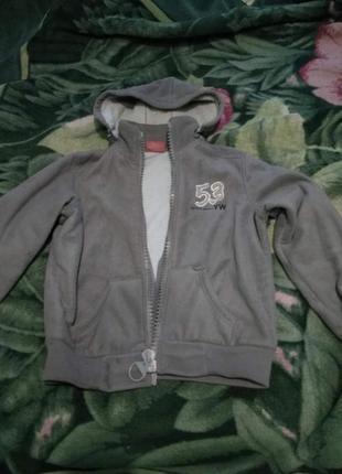 Утепленная флисовая куртка