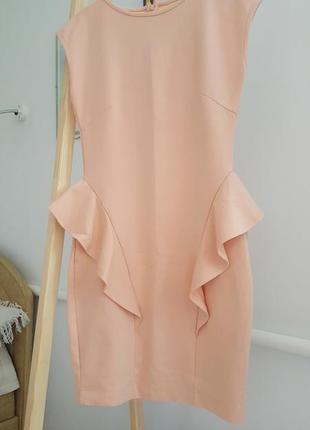 Новое женское бежевое платье миди сарафан