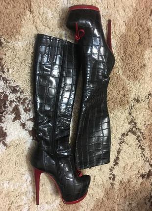 Шикарные сапоги на высоком каблуке stella marco