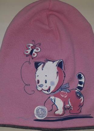 Шапка, шапочка, головной убор для девочки кошечка