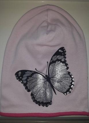 Шапка, шапочка, головной убор для девочки бабочка