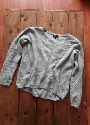 Мягкий теплый свитер оверсайз topshop мятного цвета