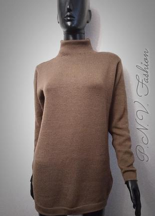 Теплый свитер водолазка мягкая шерсть