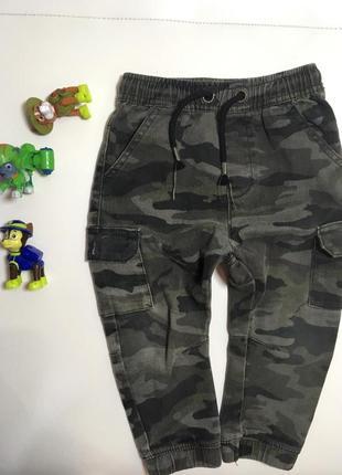 Джинсовые камуфляжные штаны /джинсы /хаки /next