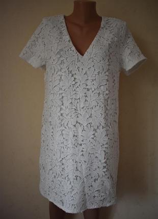 Белое кружевное платье missguided
