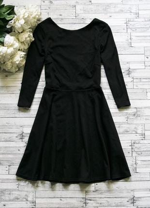 Черное трикотажное платье new look