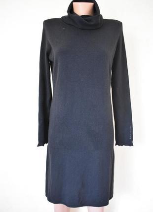Теплое платье-свитер шелк с кашемиром