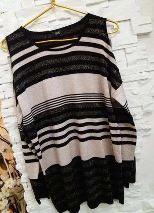 F&f нарядный свитер с открытыми плечами