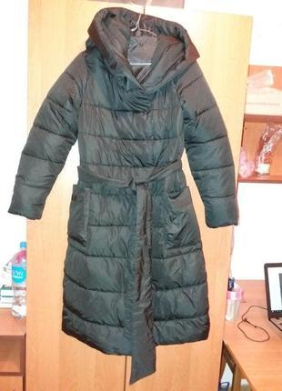 Очень крутая куртка-пальто, теплая, наполнитель холлофайбер