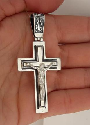 Хрест срібло925, хрестик, чоловічий, кулон, крест , серебряный, мужской крест