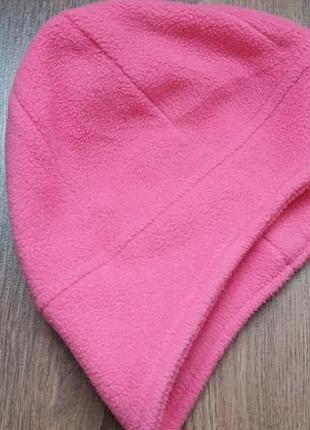 Демисезонная флисовая шапка на 1,5-2 года