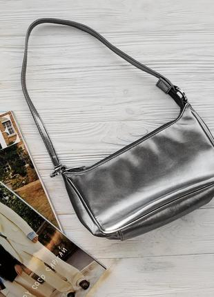 Серебристая сумка сумочка клатч ретро винтажная винтаж1