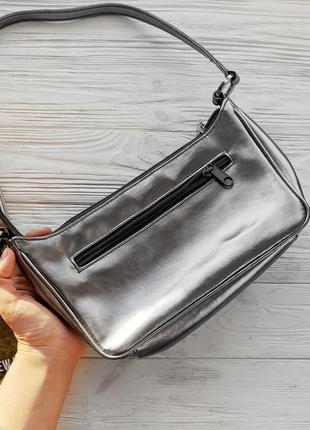 Серебристая сумка сумочка клатч ретро винтажная винтаж2