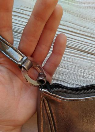 Серебристая сумка сумочка клатч ретро винтажная винтаж3