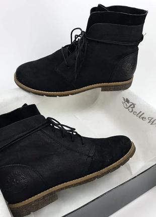 Ботинки новые женские натуральная кожа 38 размер 24.5 см на шнурке